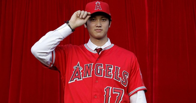 Shohei Ohtani in Angels uniform