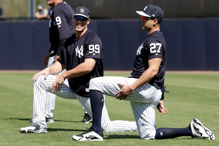 Aaron Judge and giancarlo stantion NYY