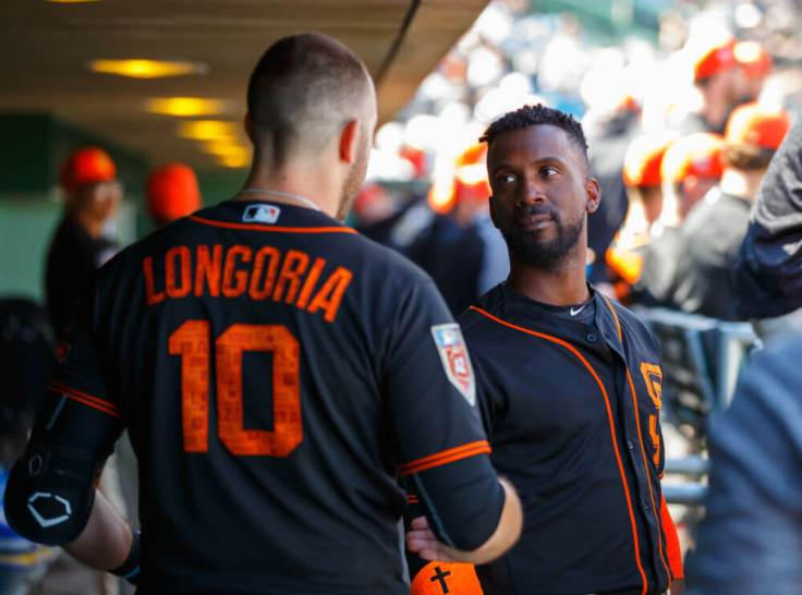 Evan Longoria and Andrew McCutchen as Giants