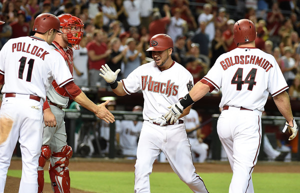 AJ Pollock, David Peralta and Paul Goldschmidt