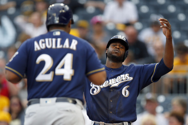 Jesus Aguilar and Lorenzo Cain